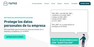 Captura de la web nymiz.com